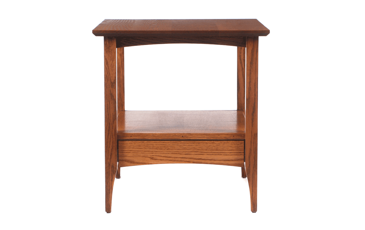 Oregon Shaker Space Saver End Table Riley S Real Wood