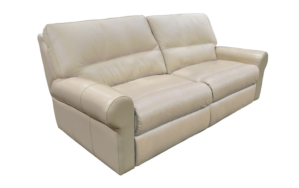 Coleman Leather Power Reclining Sofa - Riley's Real Wood ...