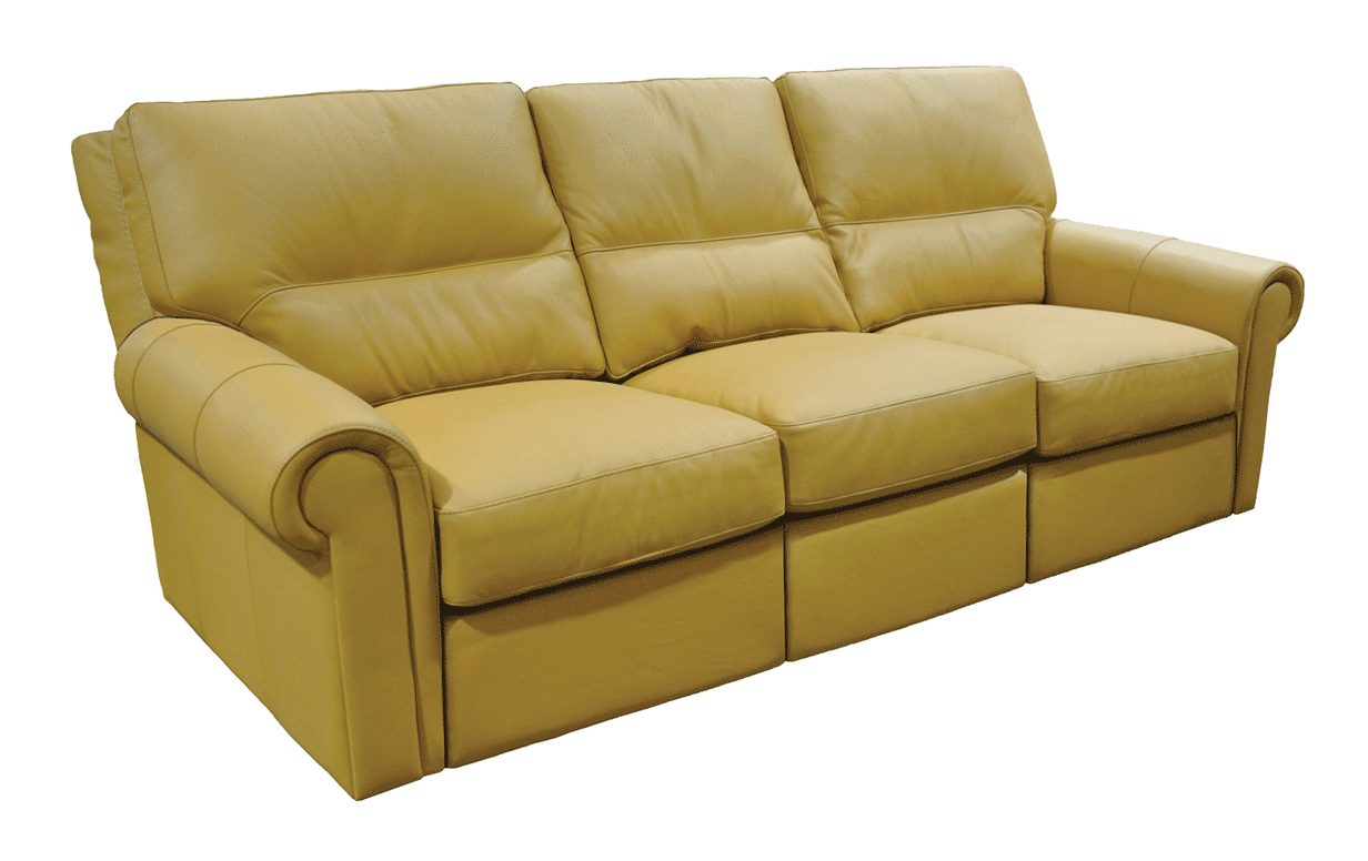 Fairfield leather power reclining sofa riley 39 s real wood for Sofa actual