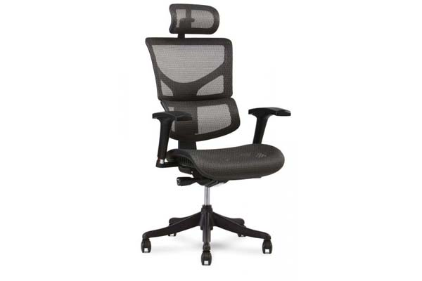 X1 Task Chair with headrest in Gray