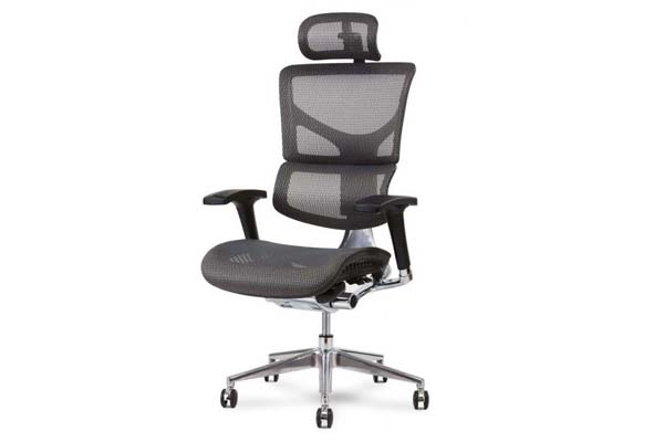 X2 Executive Task Chair in Grey K-Sport Mesh