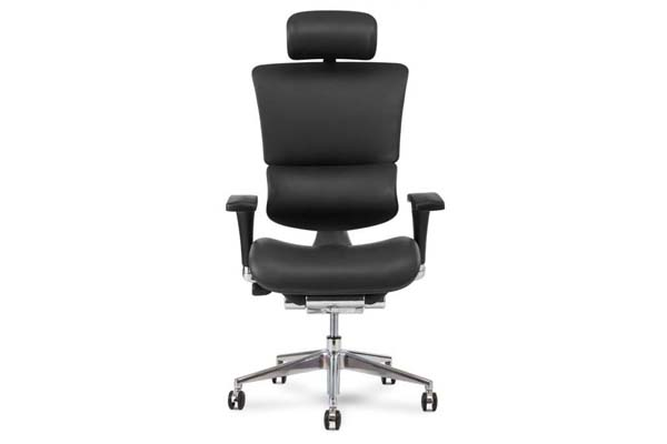 X4 Leather Executive Chair in Black Leather