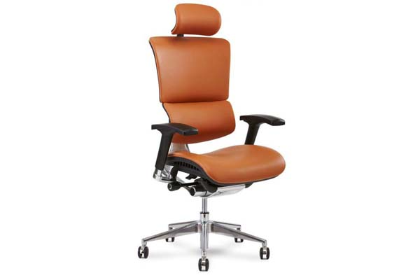X4 Leather Executive Chair in Cognac Leather