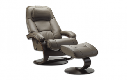 Admiral Recliner and Ottoman Safari Leather