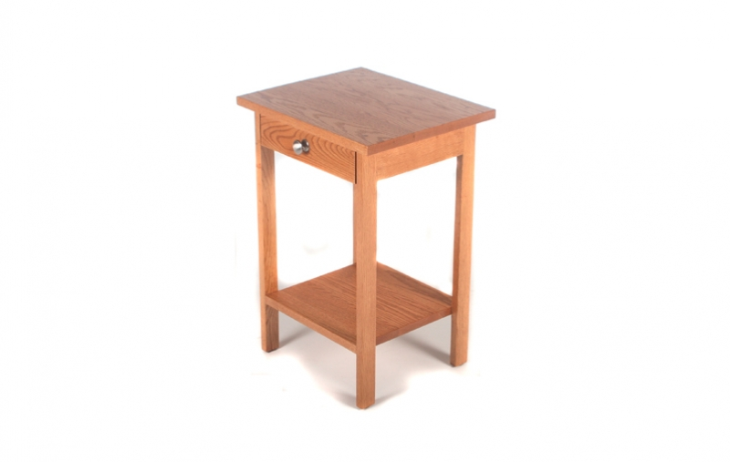 Basics End Table W Drawer Riley S Real Wood Furniture
