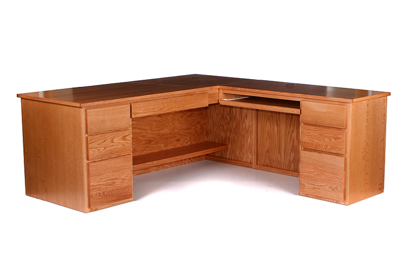 Classic L Desk Riley S Real Wood Furniture