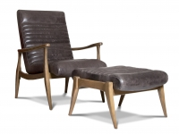 Erik Chair & Ottoman in Leather