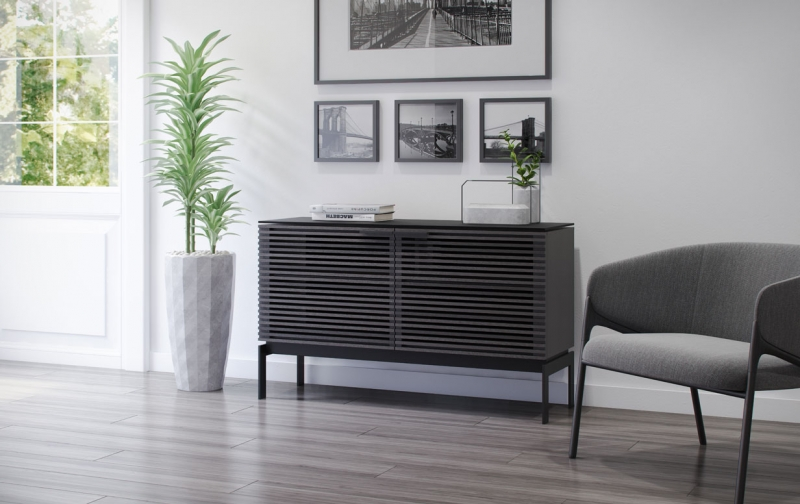 Corridor SV 7128 Charcoal Stained Ash 2 Dr Console