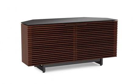 Corridor 8175 Corner Media Console in Chocolate Stained Walnut