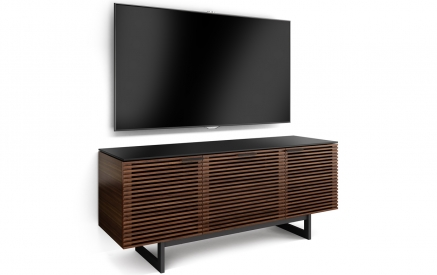 Corridor 8177 Media Console in Chocolate Stained Walnut