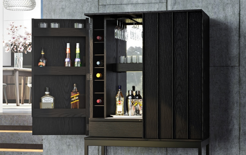 Cosmo 5720 Bar in Ebonized Ash