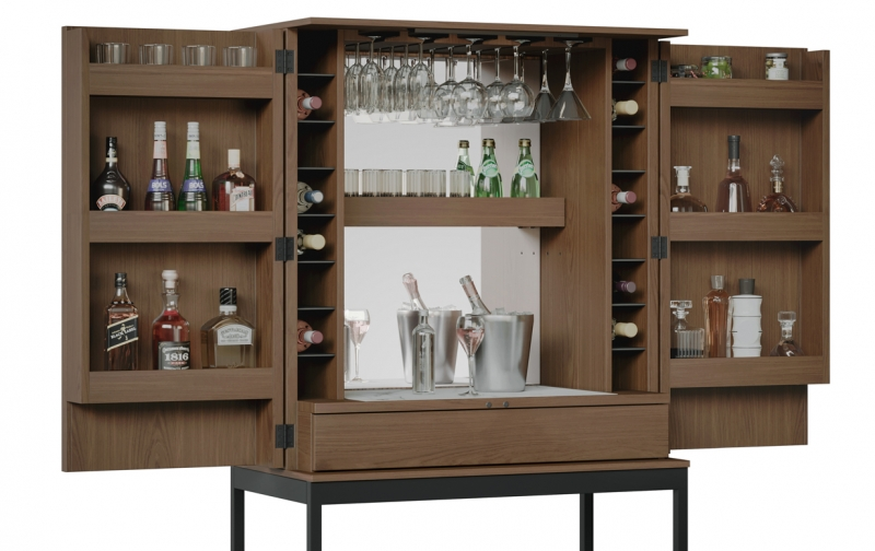 Cosmo 5720 Bar in Toasted Walnut