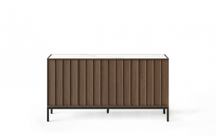 Cosmo 5729 Console in Toasted Walnut