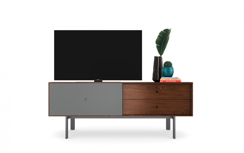 Margo 5229 Media Console in Toasted Walnut with Fog accent