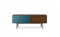 Margo 5229 Media Console in Toasted Walnut with Marine accent
