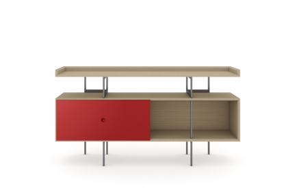 Margo 5211 Console in Drift Oak with Cayenne Accent