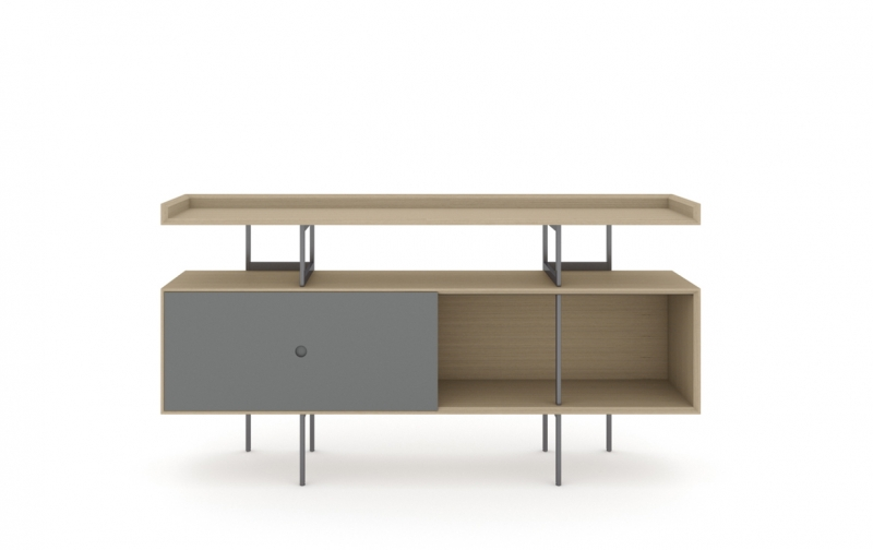 Margo 5211 Console in Drift Oak with Fog Accent