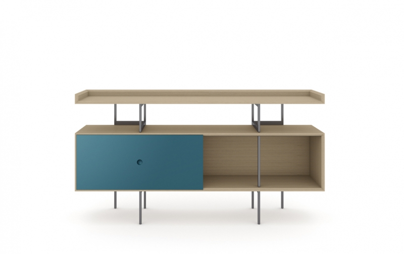 Margo 5211 Console in Drift Oak with Marine Accent