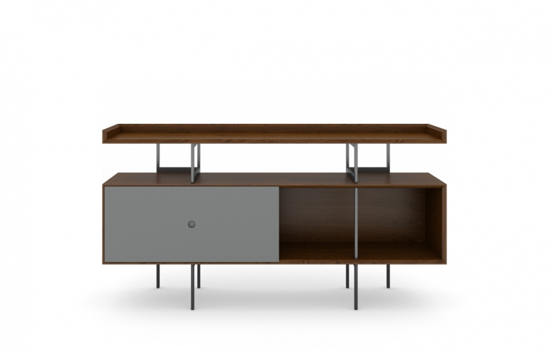 Margo 5211 Console in Toasted Walnut with Fog Accent
