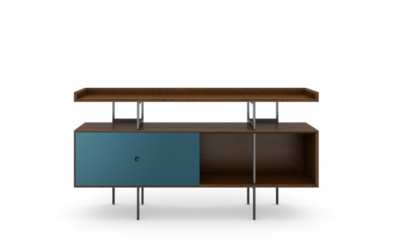 Margo 5211 Console in Toasted Walnut with Marine Accent