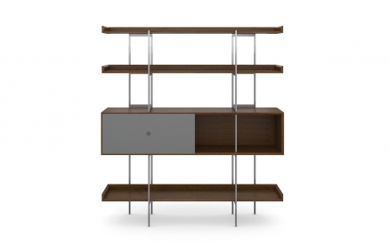 Margo 5201 Shelf in Toasted Walnut with Fog Accent
