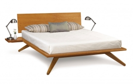 Astrid Platform Bed with Optional Shelf Night Stand