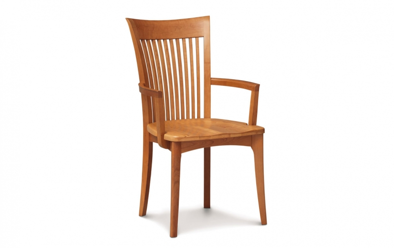 Sarah Arm Chair with Wood Seat