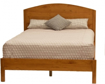 Alsea Bay Platform Bed Honey Finish