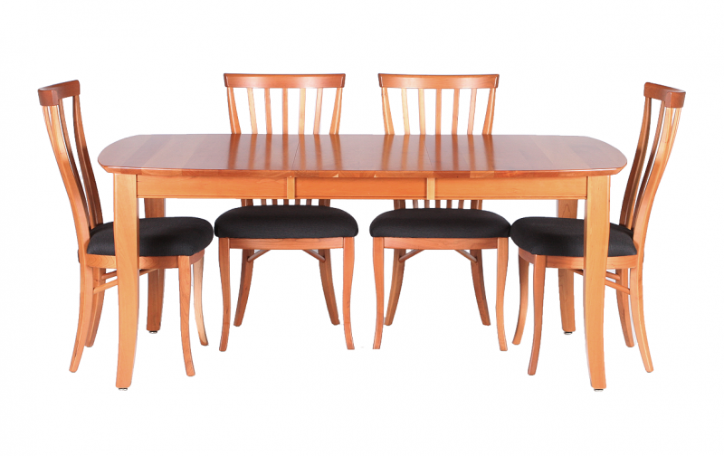 casual cherry dining table - riley's real wood furniture Cherry Dining Table