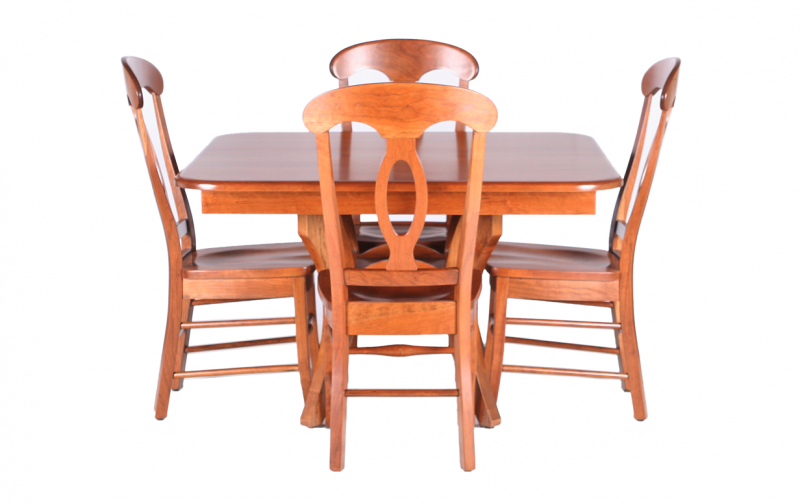 Modern Traditions Trestle Table Riley S Real Wood Furniture