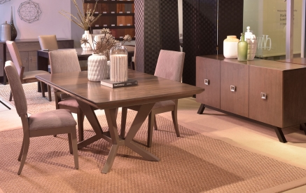 Superb American Modern Dining Table Rileys Real Wood Furniture Download Free Architecture Designs Itiscsunscenecom