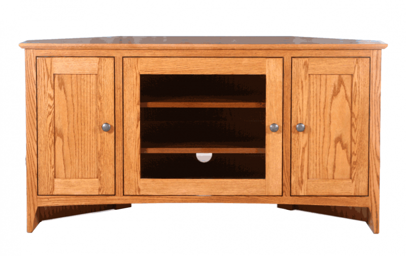 Shaker 48 Quot Corner Tv Console Riley S Real Wood Furniture
