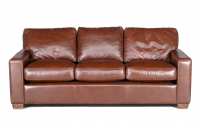 City Craft Leather Sofa in Guanaco West