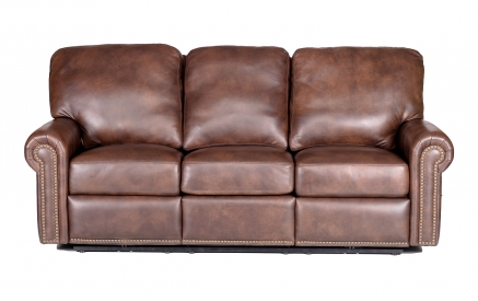 Fairfield Leather Power Reclining Sofa in Impressions Chocolate