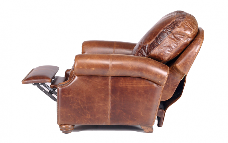 Riverton Leather Push Back Recliner. PrevNext  sc 1 st  Rileyu0027s Real Wood Furniture & Riverton Leather Push Back Recliner - Rileyu0027s Real Wood Furniture islam-shia.org