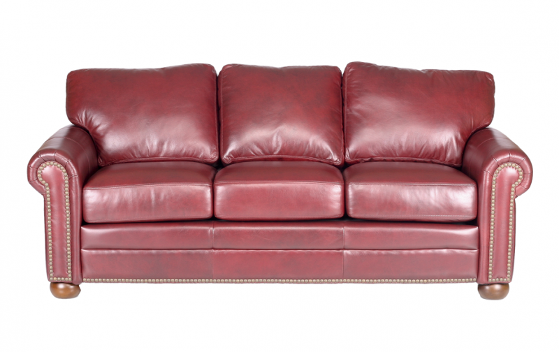Savannah Leather Sofa - Riley\'s Real Wood Furniture