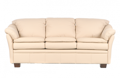 Uptown Leather Sofa in Fashion Almond