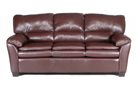 Vegas Leather Sofa in Navajo Dark Brown