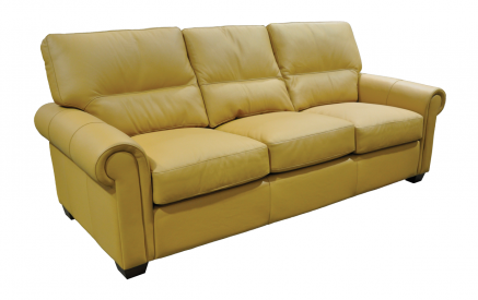 Regent Leather Sofa in Fashion Almond