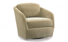 Gordon Swivel Glide Chair in Fabric