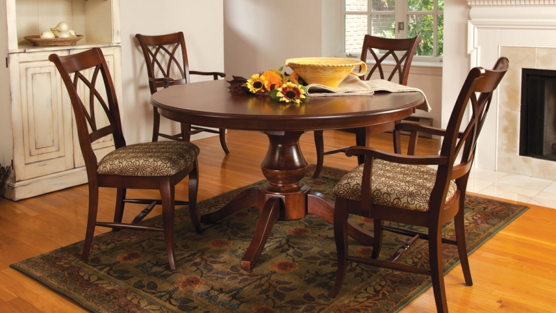 Woodstock 48 Quot Dining Table Riley S Real Wood Furniture