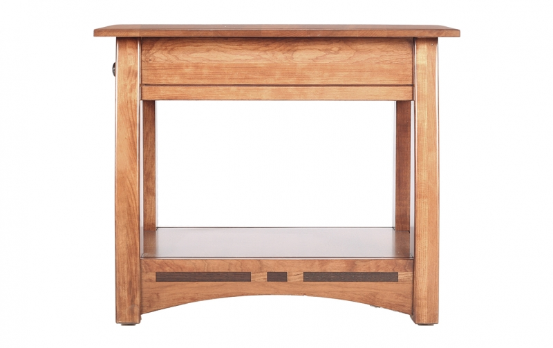 African Inlay Space Saver End Table Riley 39 S Real Wood Furniture