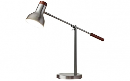 Watson Desk Lamp in Satin Steel