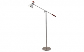 Watson Floor Lamp in Satin Steel