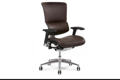 X4 Leather Executive Chair in Brown Leather