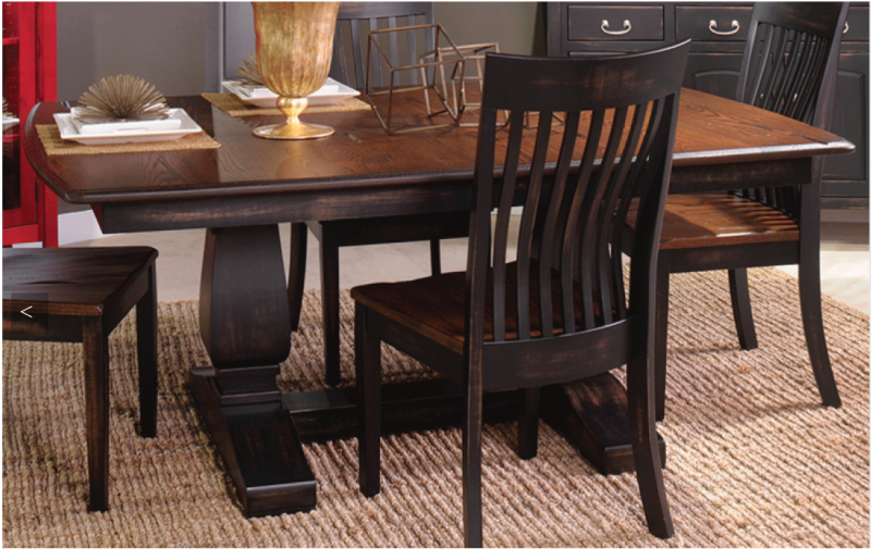 Shaker Trestle Table Amp 6 Chairs Riley S Real Wood Furniture